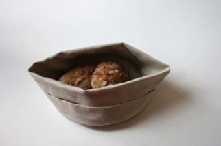 Bread basket in half with top