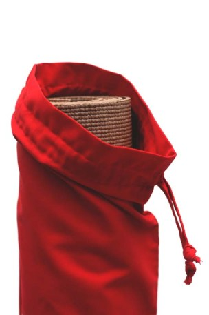 Cotton 'French Bread' bag Kuskat red, Yoga bag, Beach bag, detail