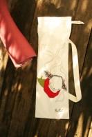 Poissondrieke with straps, bright series baguette bag, 70/24 cm