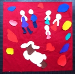 Colorfull Custom made square pillows children's drawing detail appliqué,piecing
