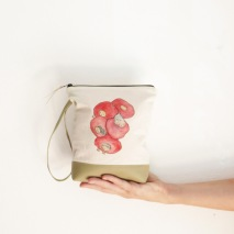 cosmetics bag handpainted 2