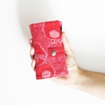 Iphone 6 quilted wallet, pouch case cover presentation