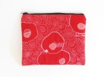 Quilted pouch red illustration threadpaintedfront