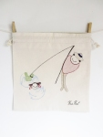 Visser, natural series of drawstring bread bag 35/35
