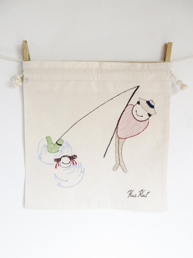 Visser, natural series of drawstring bread bag 35/35