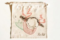 Poissondrieke with straps and water bubbles , natural series of drawstring bread bag 35/35