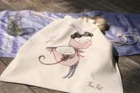 Prinsesa and Violina, drawstring bread bag (M), 45/40 cm