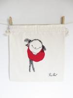 KusKat, bright series drawstring bread bags, 35/35 cm
