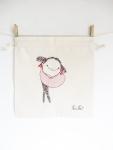 KusKat, natural series of drawstring bread bag 35/35 cm