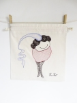 Prinsesa ** natural series of drawstring bread bag 35/35 cm